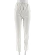 Denim & Co Orig Waist Stretch Pants Side Pockets Straight White,Size 3XL... - $24.74