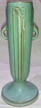 """ROSEVILLE """"Moderne"""" Pattern Turquoise Green Vase 790-7 Art Pottery - $238.43"""