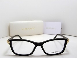 New Authentic Versace Eyeglasses VE 3156 GB1 Made In Italy 53mm MMM - $130.64