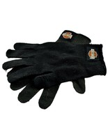 Harley Davidson Motorcycles Women's Black Knit Gloves Orange Bar & Shield - $12.86