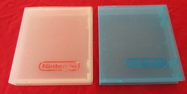 Original NES Storage Cases 2 Hard Plastic Cases Clear and Blue - $7.91