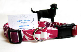 Tropical dog collar, 1 inch wide Pink dog collar, 19-28 inch Purple dog ... - $14.99