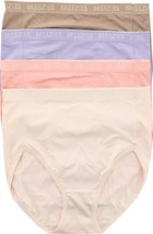 Breezies Set 4 Nylon Microfiber Hi-Cut Panty Lilac S NEW A287800 - $14.83