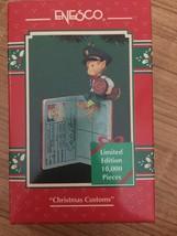 ENESCO Christmas Ornament Christmas Customs Passport Stamping Elf NIB - $12.99