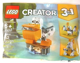 Lego Creator 30571 Pelican 62 Pcs Polybag 3 in 1 New - $8.99