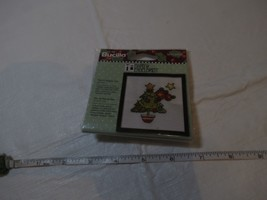 Cross Stitch Kit Mary Engelbreit Mini Frame Project Bucilla Christmas Tree NOS - $19.79