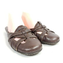 Born Slide Sandals Women's Sz 9/40.5 Brown Leather - $27.55