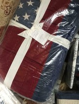 Pottery Barn Stars and Stripes Quilt Set King 2 King Sham American Flag 4th July - $399.00