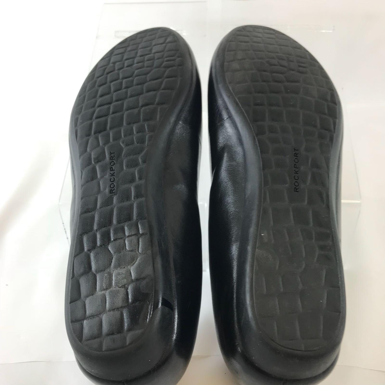 Rockport Women's Shoes Adiprene Ballet Flats Black Leather High Comfort 9.5M
