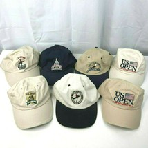 US Open USGA 7 Golf Dad Hat Cap Bundle Bethpage Congressional Oakmont 20... - $72.34