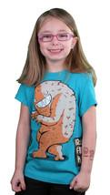 Iron Fist Effrayant Steve Bleu Sarcelle Filles Jeunesse T-Shirt
