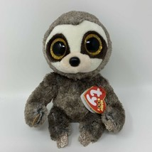 "TY BEANIE BOOS SLOTH DANGLER STUFFED ANIMAL GLITTER EYES 6"" NEW WITH TAG... - $6.33"