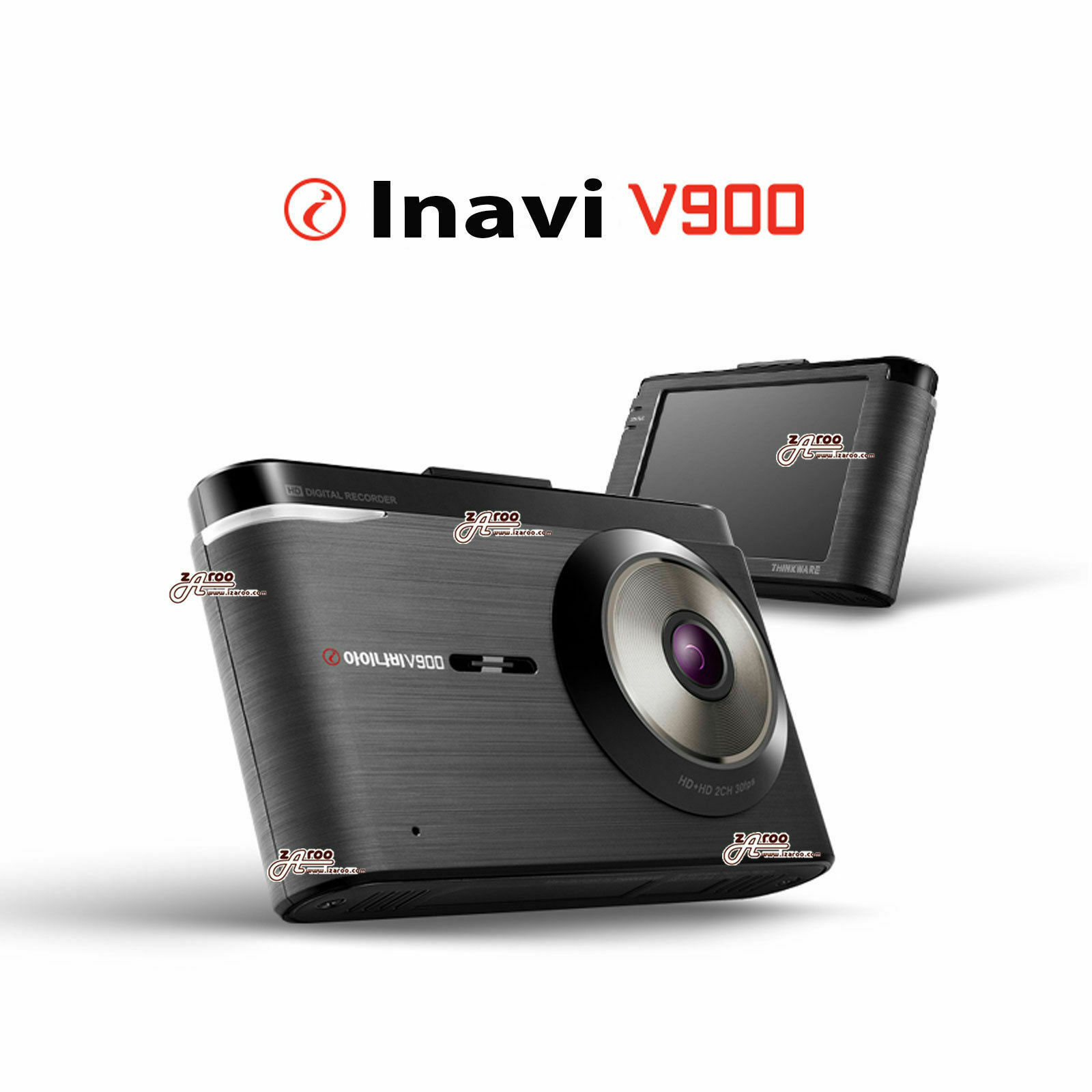 "INavi V900 2ch Super Clear HD 3.5"" Full Touch LCD Car Dash Cam Black Box 16GB"