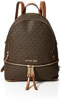 MICHAEL Michael Kors Rhea Zip Medium Backpack Brown One Size - $241.27