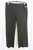 INC International Concepts Dress Pants Sz 16 Deep Black Wide Leg Regular... - $29.62