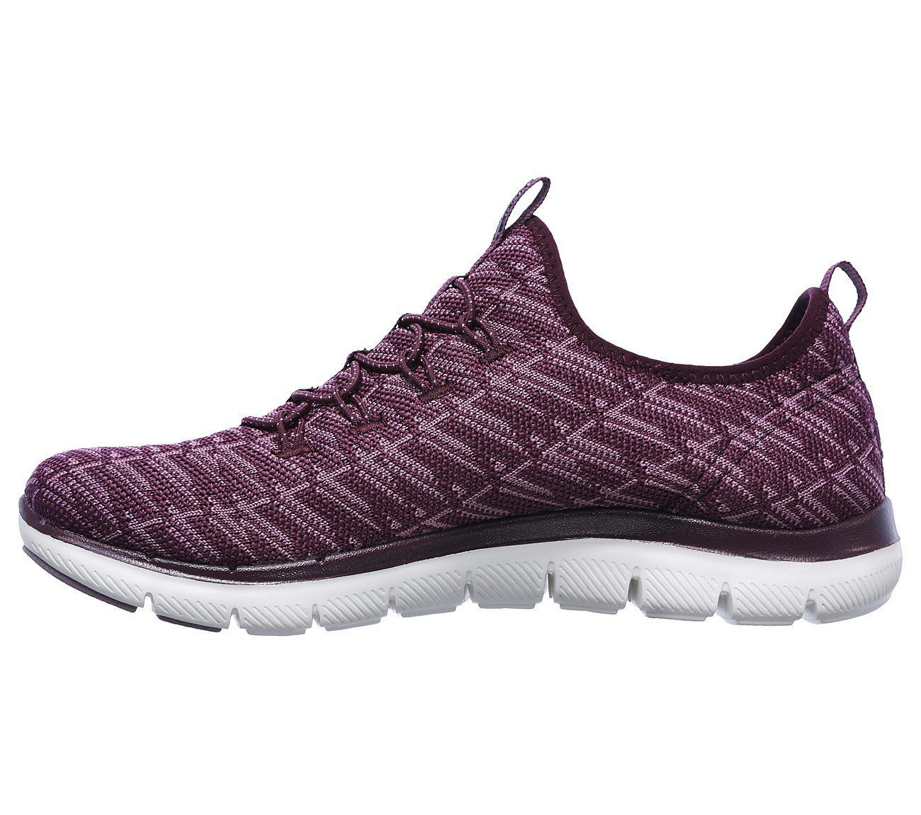 Skechers Flex Appeal 2.0 Insights Plum Womens Slip On Walking Shoes 12765/PLUM