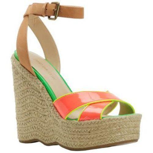 08dfb2303e Enzo Angiolini Women's Nomas Wedge Sandal NWOB Sz 7.5 Orange Color Block -  $29.53
