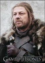 Game of Thrones Ned Stark with Sword Photo Image Refrigerator Magnet NEW... - $3.99