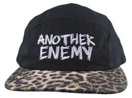 Another Enemy Unisexe Faune Imprimé Léopard 5 Panneau Strapback Baseball Hat Nwt