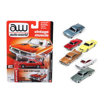Autoworld Muscle Cars Release 5A Premium Licensed Set Of 6 Cars 1/64 Die... - $57.86