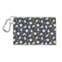 Ghosts with Candy Canvas Zip Pouch - $15.99+