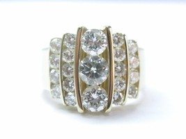 NATURAL Round Brilliant Diamond Cocktail SOLID Yellow Gold JEWELRY Ring ... - $3,910.50