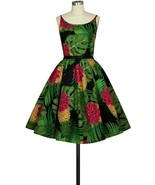 Floral Tropical Rockabilly Retro 1950s Swing Dress Vintage 50s Pin Up Party - $53.46