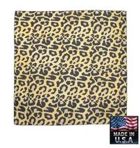 USA Gemacht Leopardenmuster Pelz Aufdruck 55.9x55.9cm Kopftuch Bandana S... - $9.92