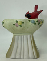 "Vintage Porcelain Cardinal Red Bird Planter 6.5""x6"" MIC Made In Taiwan - $9.85"