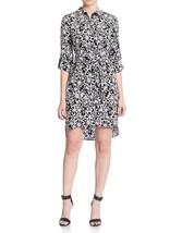 Diane Von Furstenberg Prita Printed Silk Shirtdress , Halo Petal, size 8 - $137.46