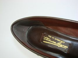 EUC Etienne Aigner Women's Tassel Slip On Pinch Loafers Dress 8 1/2M Brown image 5