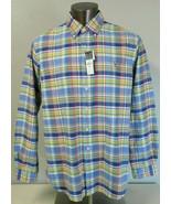 Mens Ralph Lauren Multicolor Plaid Long Sleeve Button Front Shirt Size XL - $49.49