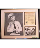 DON KNOTTS (THE ANDY GRIFFITH SHOW) ORIGINAL AUTOGRAPH PHOTO FRAME MATED - $247.50