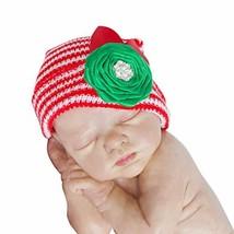 26b72408e5ca The Posh Contessa newborn hats for girls – 0 to 3 Months Red Green B