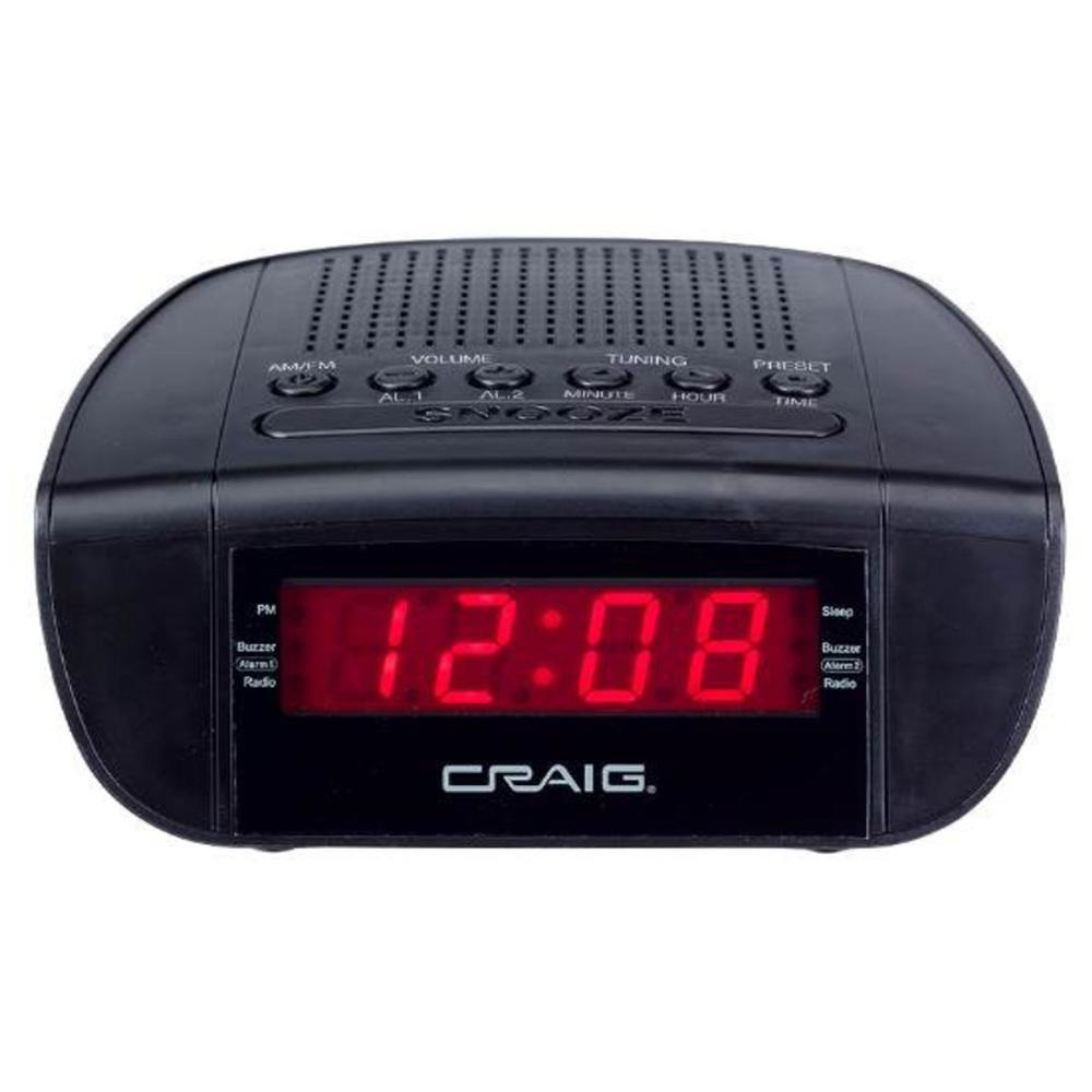 Craig Dual Alarm Clock Radio with 0.6″ LED Display