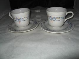 "(2) Corning Designs ""SERENDIPITY"" Cup & Saucer Set - $5.00"