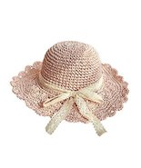 Gentle Meow Women's Beach Vacation Lace Bowknot Straw Hat Summer Foldabl... - $21.07