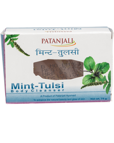 PATANJALI MINT TULSI BODY CLEANSER SOAP BAR- 75gm