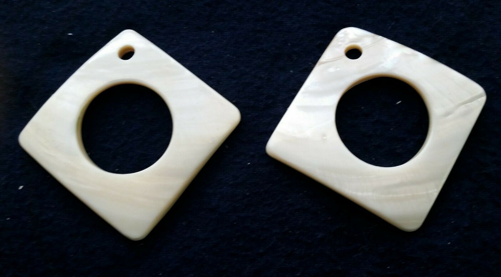 (2) Sets Mother of Pearl Triangle when Worn for Jewelry Making (4) Pieces