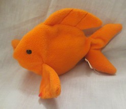 Ty Beanie Baby Goldie The Goldfish PVC Filled NO TAG - $6.92