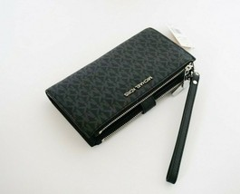 Michael Kors Jet Set Travel Large Double Zip PVC Leather Phone Wristlet ... - $68.19