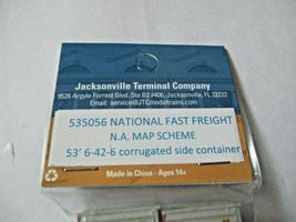 Jacksonville Terminal Company # 535056 National Fast Freight 53' Container (N) image 2