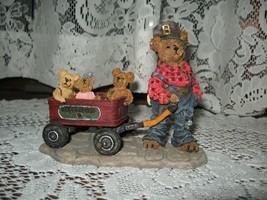 """~1999~Boyds Bears & Friends~#27727~""""Rollin Along""""~Mandy~Zoe~Zack~Bearsto... - $8.88"""