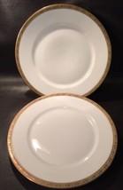 F A Schumann China 2 Dinner Plates Gold Grape Berlin Germany Hoflieferan... - $23.74