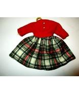 Ideal Tammy Doll School Daze Red Cordoroy Plaid Dress Tagged Japan Nice ... - $12.00
