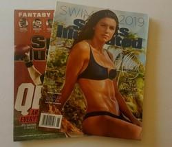 Sports Illustrated Magazines 2019 Swimsuit Alex Morgan & 2017 Football L... - $14.80