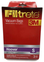 Hoover S Micro Allergen 3 Bags 64705A  Filtrete 3M Vacuum Bags New - $9.99