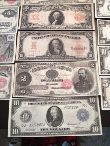/<FULL SET/>AMAZING-10Pc.LOT~COIN GOLD$1BILLION-$500 Rep.*Banknotes W//COA FLAKEd