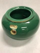 Royal Haeger  VASE  MCM signed Green bowl sticker Vintage - $19.10