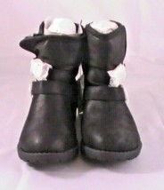 The Children's Place Youth 2087909 Black Buckle Chalet Boot Size 3 - $19.57